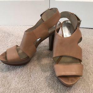 Michael Kors leather heel